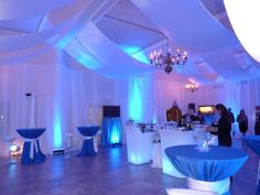 Great lighting at a corporate event ~ Pi Banquet Hall offers the same wall lighting!