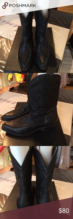 """Men's 12"""" Boulet slanted western leather boots Boulet boots are high line western boots don't miss out on them for less . Size 9.5 Boulet Shoes Boots"""