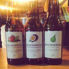 Three delicious Rekorderlig Ciders by @tracykann