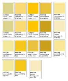 Pantone Color Chart, Pantone Colour Palettes, Colour Pallete, Colour Schemes, Color Trends, Paleta Pantone, Yellow Paint Colors, Yellow Pantone, Color Palette Challenge