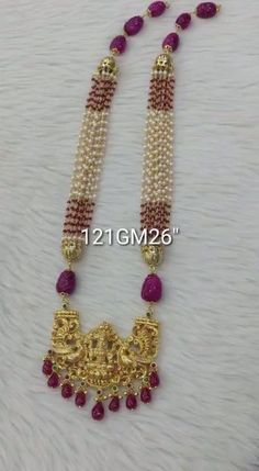 Pearl Necklace Designs, Gold Earrings Designs, Gold Necklace, Bridal Necklace, Gold Temple Jewellery, Silver Wedding Jewelry, Bridal Jewelry, Antique Jewellery Designs, Beaded Jewelry Designs
