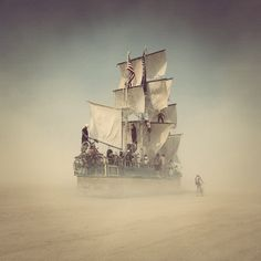 I was able to ride this ship during this years Burning Man. The crew teaches you how to actually sail it!