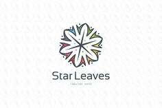 Star Leaves - $350 http://www.stronglogos.com/product/star-leaves #logo #design #sale #software #developer #web #host #provider #consulting