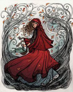 red riding hood art - Google Search