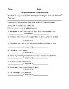 Worksheets Simile And Metaphor Worksheet 1000 images about similes and metaphors on pinterest simile englishlinx com worksheets