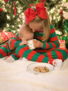Merry Christmas and a Happy New Year! Sibling Christmas Pictures, Toddler Christmas Photos, Xmas Photos, Xmas Pictures, Christmas Photo Cards, Christmas Baby, Merry Christmas, First Christmas Photos, Life Pictures