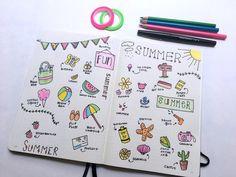 92+ Summer Doodle Prompts for Your Bullet Journal