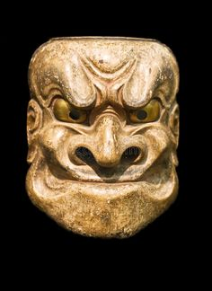 Demon mask. (Japanese Noh Theater , #AFF, #mask, #Demon, #Japanese, #Theater, #Noh #ad