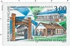 Timbre : 1997 SAINT-LAURENT-DU-MARONI GUYANE PATRIMOINE GUYANAIS   WikiTimbres