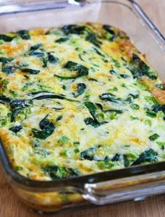 Spinach and Mozzarella Egg Bake