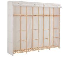Wardrobe White Fabric Storage Cabinet Clothes Organiser Furniture Unit Wardrobe Drawers, Wardrobe Cabinets, Wardrobe Storage, Closet Storage, Cube Storage Unit, Cupboard Storage, Storage Shelves, Folding Wardrobe, Canvas Wardrobe
