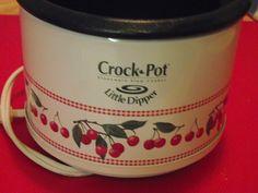 cute Crock-Pot w/cherries Cherry Kitchen Decor, Vintage Kitchen Decor, Kitchen Ideas, Cherry Boom, Cherry Red, Crock Pot Slow Cooker, Crockpot, Cherries Jubilee, Sweet Cherries