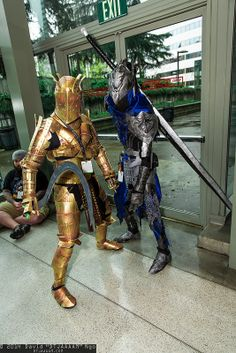 Knight Lautrec of Carim and Knight Artorias. Epic cosplay