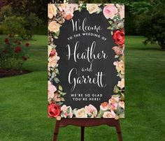 Chalkboard Wedding Welcome Sign Welcome Wedding Sign Reception Sign Chalkboard Welcome Sign Wedding Poster Welcome Poster PRINTABLE Large Custom Chalkboard Wedding by RememberNovemberInc Wedding Welcome Board, Wedding Program Sign, Reception Signs, Chalkboard Wedding, Chalkboard Welcome Signs, Chalkboard Poster, Vintage Wedding Signs, Welcome Poster, Ceremony Seating