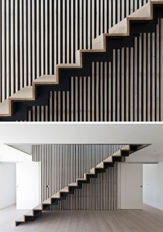 18 Examples Of Stair Details To Inspire You // These wood and black steel stairs…