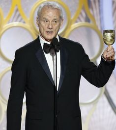 Bill Murray at the Golden Globes 2019 Golden Globe Award, Golden Globes, Bill Murray, Fashion, Moda, Fashion Styles, Fashion Illustrations
