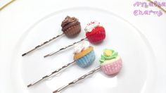 Hey, I found this really awesome Etsy listing at https://www.etsy.com/listing/250607210/cupcake-hair-pins-bobby-pins-barrettes