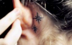 This tattoo of the Neverland star is absolutely perfect. If I was to get a tattoo, this would probably be it. But wouldn't behind my ear hurt like a mother trucker?