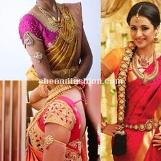 Silk Saree short sleeve blouse