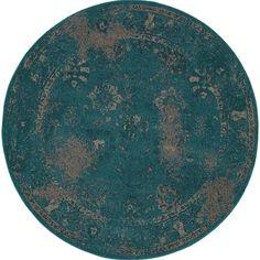Oriental Weavers Revival 3690D Teal/Beige Oriental Area Rug