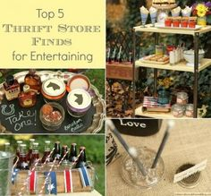 Top 5 Thrift Store Finds For Parties & Entertaining