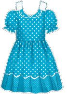 #polka #dot #dress for paper doll