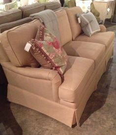 Henry Sofa In Duke Sunset Fabric Retail $6945.00, Sale $4167.00 From Acquisitions  Interiors