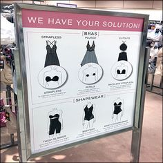 This Macy's Women's Foundation Solutions Roadmap spells out all the elements for you as introduction to multi-faceted departmental merchandising. Retail Fixtures, Store Fixtures, Outdoor Girls, Visual Merchandising, Locker Storage, Foundation, Signs, Lingerie Stores, Safe Deposit Box