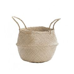 Searching for natural storage baskets, we came across these so called Belly Baskets,also known as panier boule in French. These baskets make the perfecthouseh