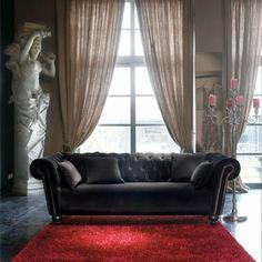 Maison du Monde: http://www.maisonsdumonde.com/FR/fr/produits/fiche/canap-velours-3-places-fixe-capitonne-carmen-105070.htm