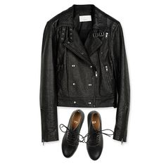 Leather goods: Campera Prince & Abotinado Isabel #mishkaba #couture #chaussures