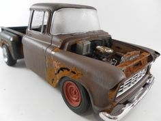 1950s Chevy truck 1/24 scale model car in brown by classicwrecks, $67.50