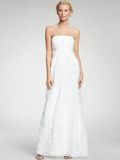 A-line Strapless Lace Ankle-length Ruched Wedding Dresses Shop uk