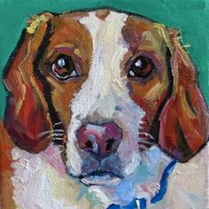 Pet Portraits Original art painting by Elizabeth Fraser - DailyPainters.com