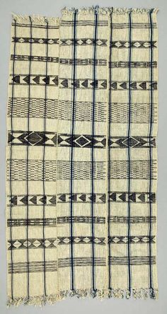 Africa | Wrapper from the Igbo people of Nigeria | 20th century | Cotton.