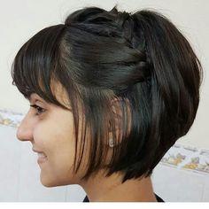 25 Best Women Short Hairstyle You Can Copy - 25 Best Women Short Hairstyle You Can Copy - Nice Short Haircuts, Short Hairstyles Fine, Hairstyles With Bangs, Short Hair Cuts, Braided Hairstyles, Short Hair Styles, Brünetter Pixie, New Hair Look, Blonder Bob