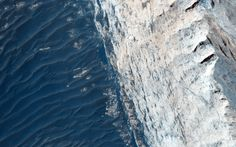 Ophir Chasma forms the northern portion of the vast Mars canyon system Valles Marineris, and this image, acquired on Aug. 10, 2015, by the High Resolution Imaging Science Experiment (HiRISE) camera on NASA's Mars Reconnaissance Orbiter, features a small part of its wall and floor.