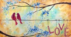 """Painting with a Twist Couples   Painting With a Twist - """"Love Song Set"""" - Encore! (Couples and"""