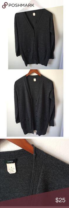 J.Crew Wool cardigan EUC. Wool. Charcoal. Size medium. J. Crew Sweaters Cardigans
