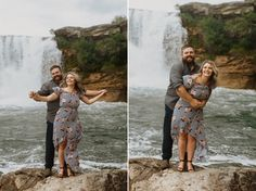 Engagement Photos at Lundbreck Falls in Crowsnest Pass with the couples' dogs in the pictures. Photos by Havilah Heger Photography Engagement Shoots, Wedding Engagement, Wedding Day, My Favorite Part, How Beautiful, I Love Dogs, Big Day, Wedding Photos, Mountain