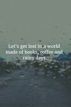 Rainy days and books are the best together!