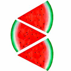 Pajama Day, Watermelon Slices, Art Prints, Fruit, Cards, Art Impressions, Maps, Playing Cards
