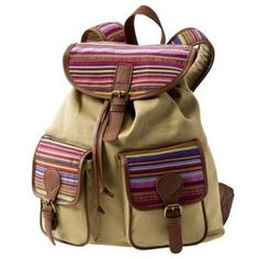 Mossimo Supply Co. Dana Ethnic Stripes Backpack Natural