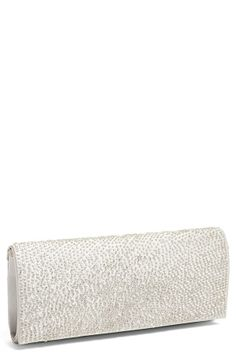 For prom - Hand beaded ivory envelope clutch.