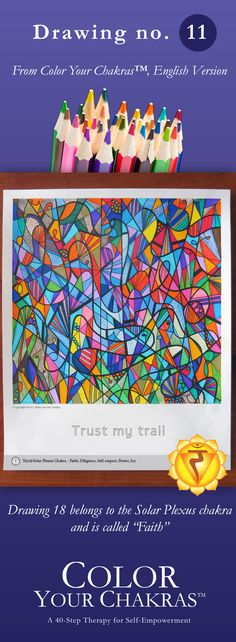 Cleanse and strengthen your chakras by coloring these miracle drawings :-) For more info visit my website.