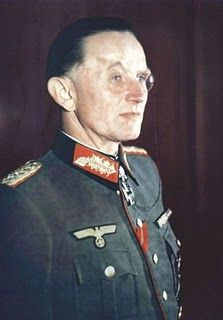 """Gen. Dietrich von Saucken was an old Prussian aristocrat who despised the """"brown mob"""" (i.e. the Nazis). He was the last of just 27 men to receive the Knight's Cross of the Iron Cross with Oak Leaves, Swords and Diamonds. During his last meeting with Hitler, he addressed the Leader as """"Herr Hitler,"""" refused to surrender his weapon, and refused to give the Nazi salute and proclaim """"Heil Hitler."""" Surprisingly, he was retained in command and ended his career as POW in Russia until 1955."""