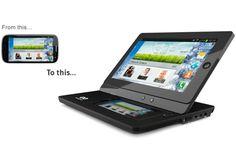 Phonepad es una carcasa con pantalla táctil y batería propia en la cual se puede conectar un smartphone mediante MicroUSB con MHL y brindar una experiencia como de tablet.