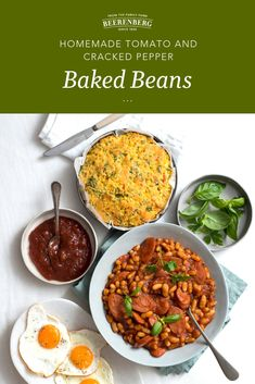 Who doesn't love Baked Beans for breakfast! This recipe for a homemade version is extra delicious served with poached or fried eggs and Worcestershire Sauce.   Click the image to download this breakfast recipe from our FREE 100 recipes eBook. Breakfast Beans, Breakfast In Bed, Lunch Recipes, Breakfast Recipes, Vegetarian Tart, Bed Recipe, Fried Eggs, Cracked Pepper, Worcestershire Sauce