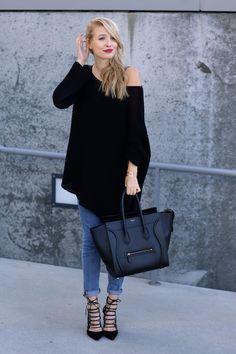 we love den oversized pullover mit den jeans und freier Schulter #welovejeans