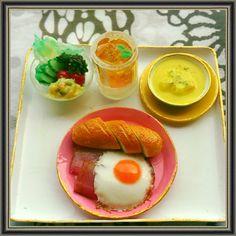 お昼に食べたい!  #ミニチュア #ミニチュアフード #ハンドメイド #miniature #miniaturefood